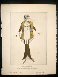Gazette du Bon Ton by Bakst 1913 Art Deco Pochoir. Philomele